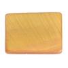 Shell Rectangular 15x20mm Light Gold